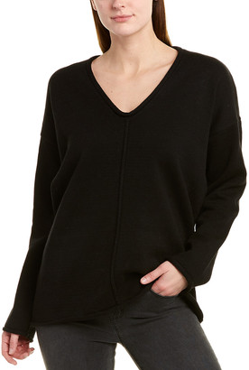 BCBGMAXAZRIA Dropped-Shoulder Pullover