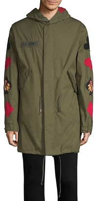 As65 Cards Embroidered Parka