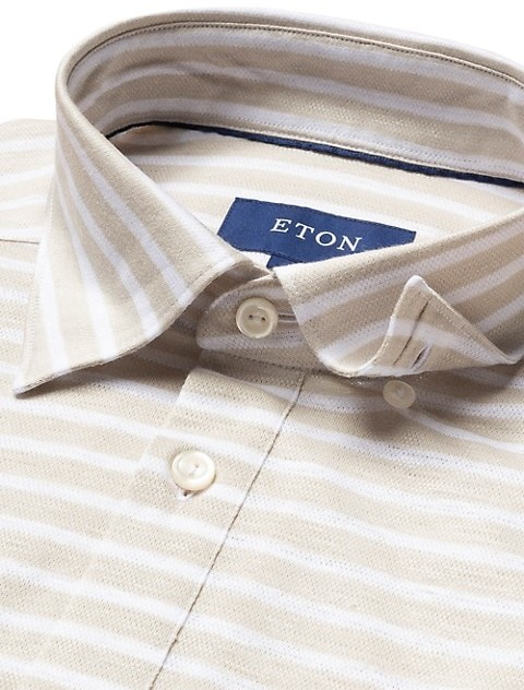 Thumbnail for your product : Eton Contemporary-Fit Striped Pique Polo