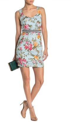 GUESS Floral Lace Sweetheart Sheath Dress