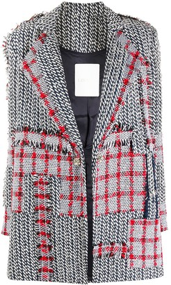 Loulou Panelled Knitted Coat