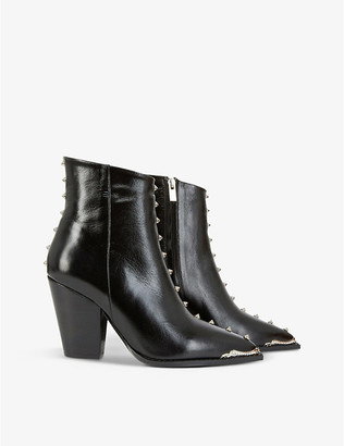The Kooples Studded leather ankle boots