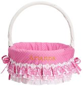 Pottery Barn Kids Ruffle Butterfly Easter Basket Liner Pink & Coral