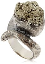 Meteor Rosa Pyrite & Silver Ring