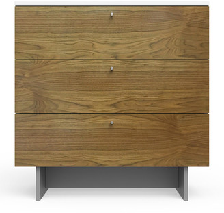 "Spot On Square Roh 34"" Dresser, White/Walnut"