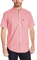 U.S. Polo Assn. Men's Chambray Short Sleeve Woven Sport Shirt
