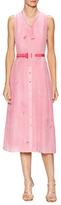 Carolina Herrera Silk Belted Midi Dress