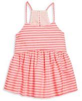 Milly Minis Girl's Neon Stripe Strappy Tank Top
