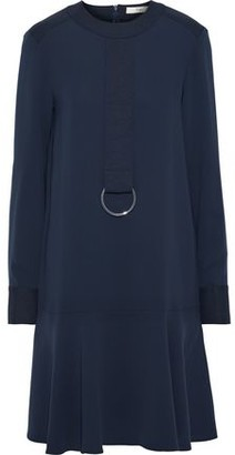 Tibi Ring-embellished Crepe Dress