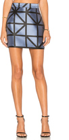 Milly Grid Modern Mini Skirt