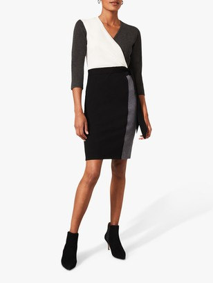 Phase Eight Bibi Colour Block Print Mini Dress, Grey