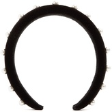 Altuzarra Faux-pearl embellished velvet headband