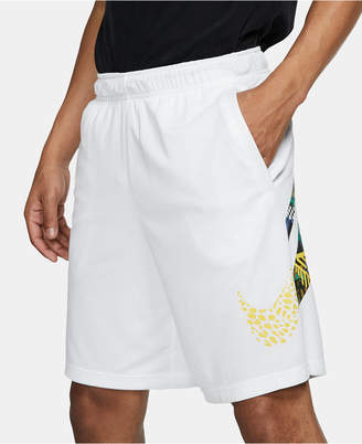 Nike Men Dri-fit Printed-Logo Training Shorts