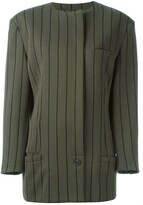 Versace Pre Owned striped single button jacket