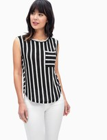 Splendid Stripe Loose Knit Pocket Tank
