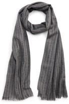 John Varvatos Men's Pinstripe Double Face Merino Wool Scarf