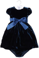 Ralph Lauren Velvet Party Dress w/ Bloomers, Navy, Size 9-24 Months
