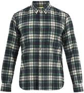DE BONNE FACTURE Patch-pocket checked cotton shirt