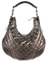 Burberry Metallic Quilted Hobo