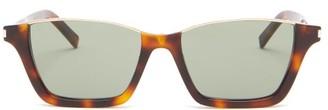 Saint Laurent Rectangular Tortoiseshell-acetate Sunglasses - Green