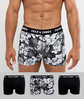Jack & Jones Trunks 3 Pack With Floral Print