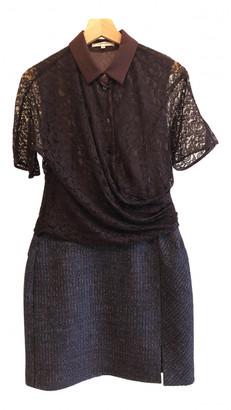 Carven Burgundy Lace Dresses