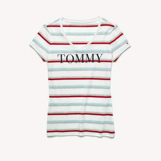 Tommy Hilfiger Essential Stripe Logo T-Shirt