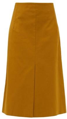 Sea Marianne Front-slit Cotton Midi Skirt - Green