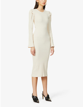 Maggie Marilyn Knot On My Watch fitted stretch-knitted midi dress