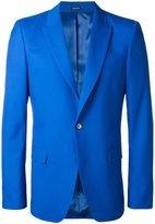 Alexander McQueen one button blazer - men - Wool/Silk/Viscose - 48