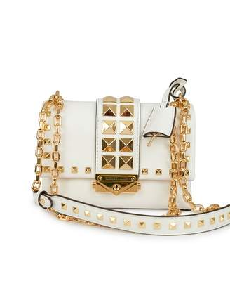 Michael Kors Cece Pyramid Studs Small Crossbody Bag Colour: Optic Whit