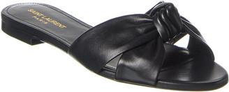 Saint Laurent Bianca Leather Sandal