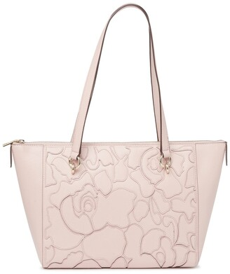 DKNY Sara Abstract Print Leather Tote Bag
