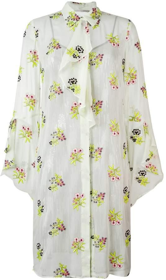 Marco De Vincenzo floral print shirt dress