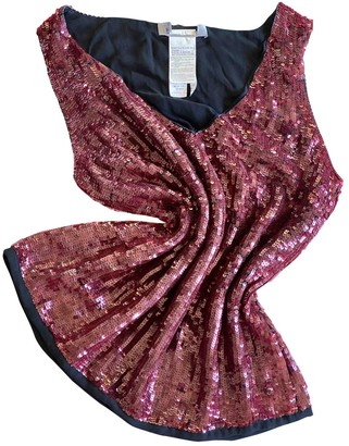 Max Mara Burgundy Glitter Top for Women