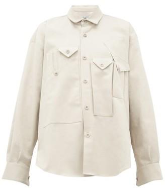 Katharine Hamnett Peter Asymmetric-pocket Cotton Utility Shirt - Womens - Beige