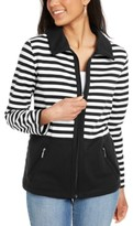 Karen Scott Colorblocked Wing Collar Zip-Front Jacket, Created For Macy's