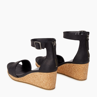 Roots Womens Cranston Ankle Strap Wedge