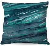 """Couch Agate Magic Throw Pillow East Urban Home Color: Teal, Size: 16"""" x 16"""""""