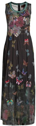 Johnny Was Biya Toqlira Butterfly Mesh Dress