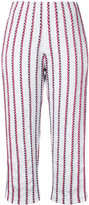Coohem striped tweed cropped trousers - women - Cotton/Nylon/Polyester - 38
