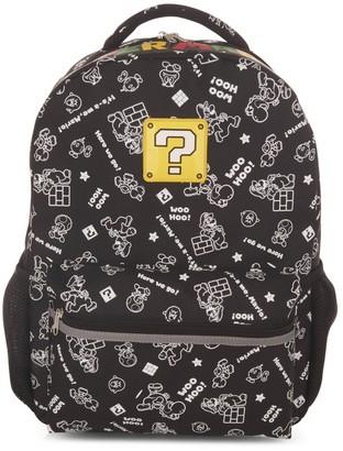 """Nintendo uper Mario Woo Hoo 16"""" Kid' Backpack"""