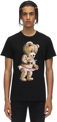 Dom Rebel Swarovski Snap Cotton Jersey T-Shirt