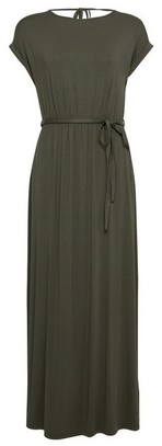 Dorothy Perkins Womens Dp Petite Khaki Jersey Maxi Dress, Khaki