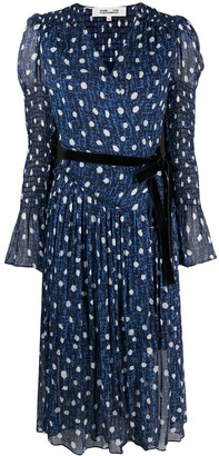 Diane von Furstenberg Printed Belted Dress