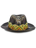 Ibo Maraca - Gypsy King hat - women - Straw/metal - M