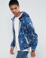 Celio Light Weight Hooded Jacket With All Over Print