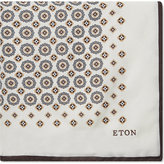 Eton Floral And Tile Silk Pocket Square