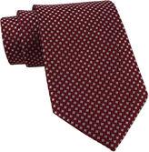 JCPenney Stafford Micro-Square Silk Tie
