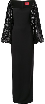 SOLACE London Greta sequin sleeve gown